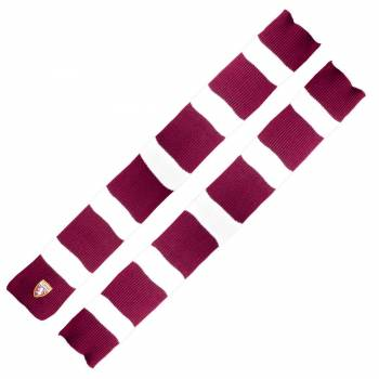 WOOL SCARF BURGUNDY AND WHITE